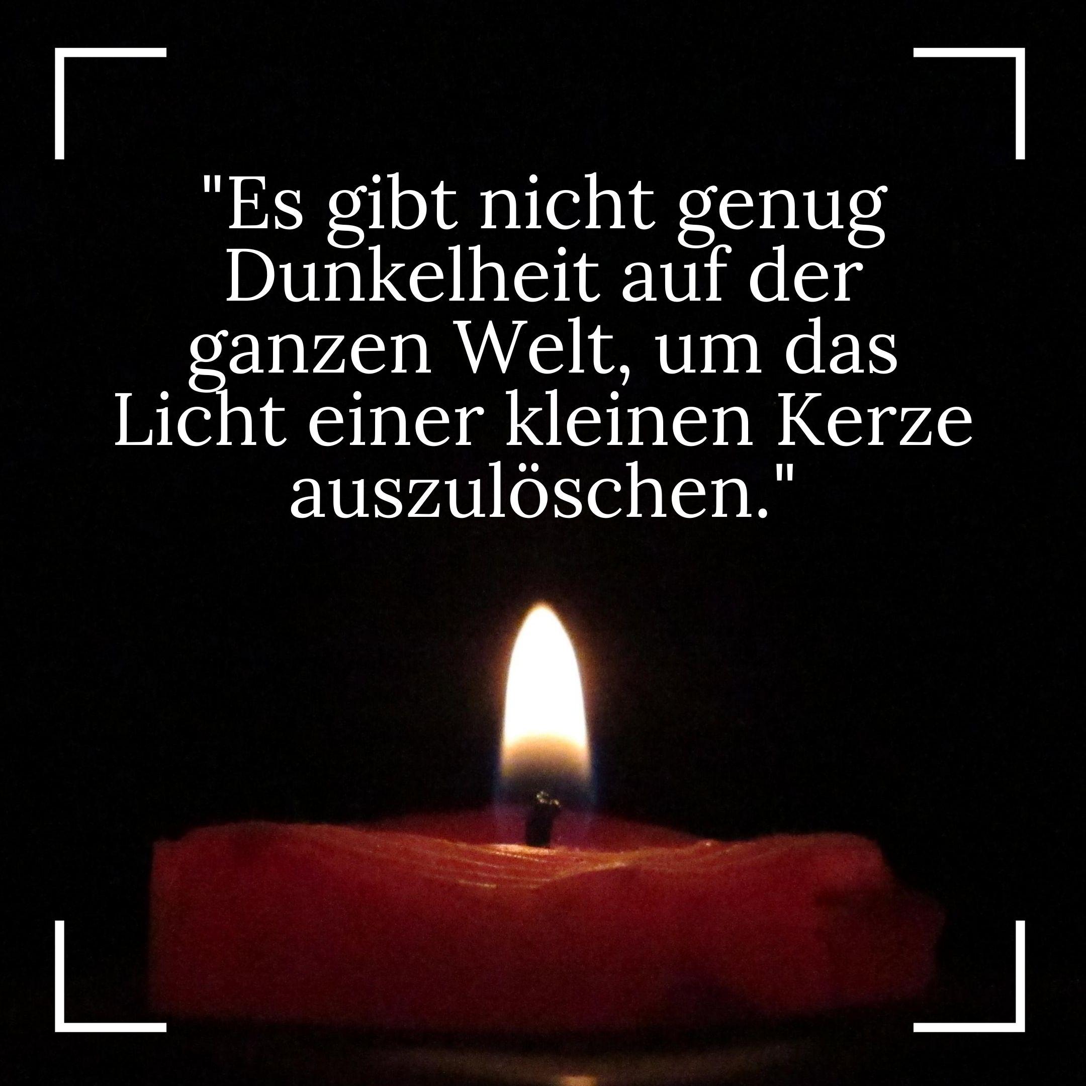 Buddhistische Weisheiten - Dunkelheit, kleine Kerze