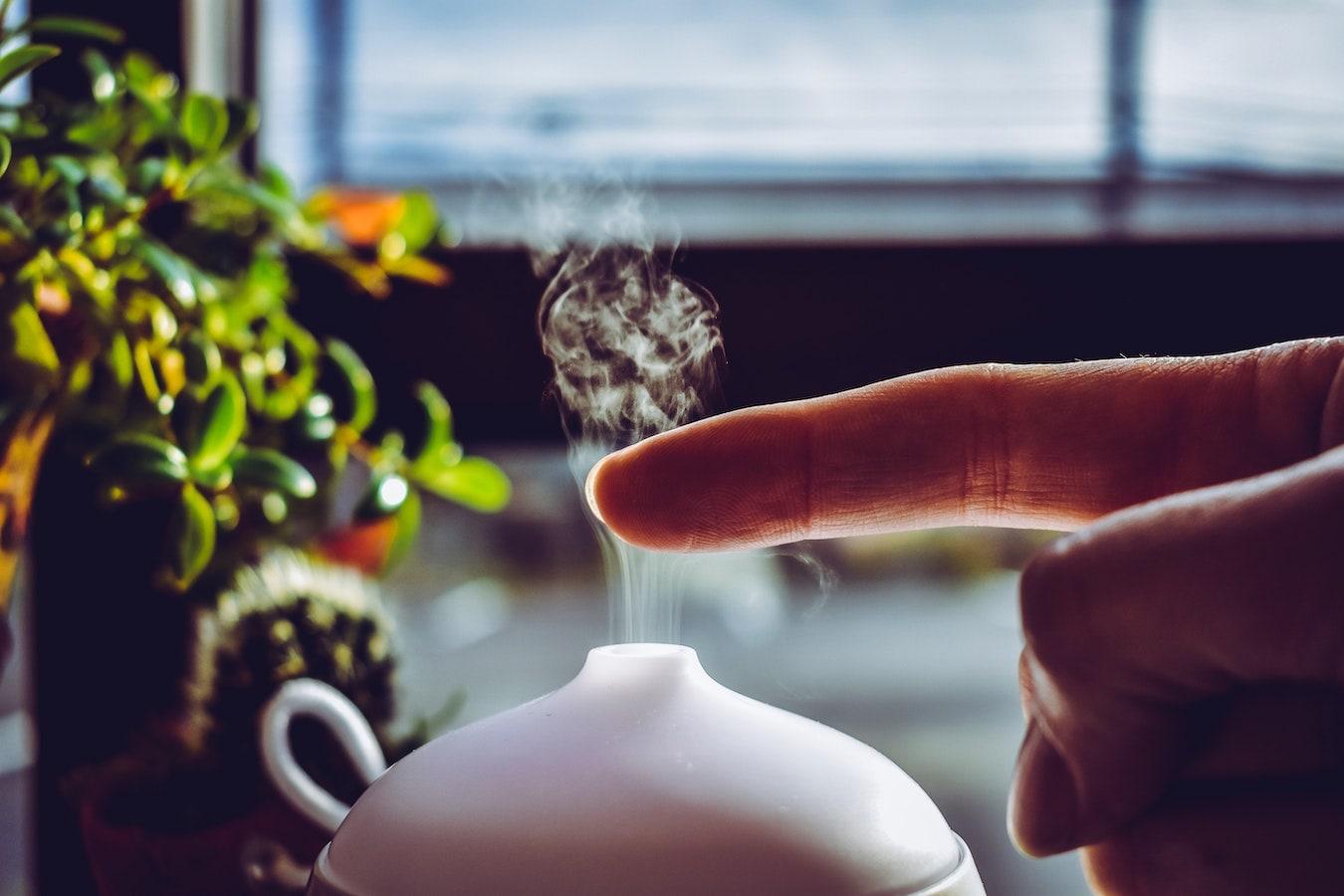 Diffusor zum Versprühen von ätherischen Ölen wie Ringelblumenöl