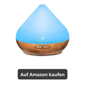 blauer Aroma Diffusor Aroma Vernebler für ätherische Öle bei Amazon